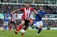 Neal Eardley of Lincoln City and Anthony Georgiou of Ipswich Town during Ipswich Town vs Lincoln City, Emirates FA Cup Football at Portman Road on 9th November 2019