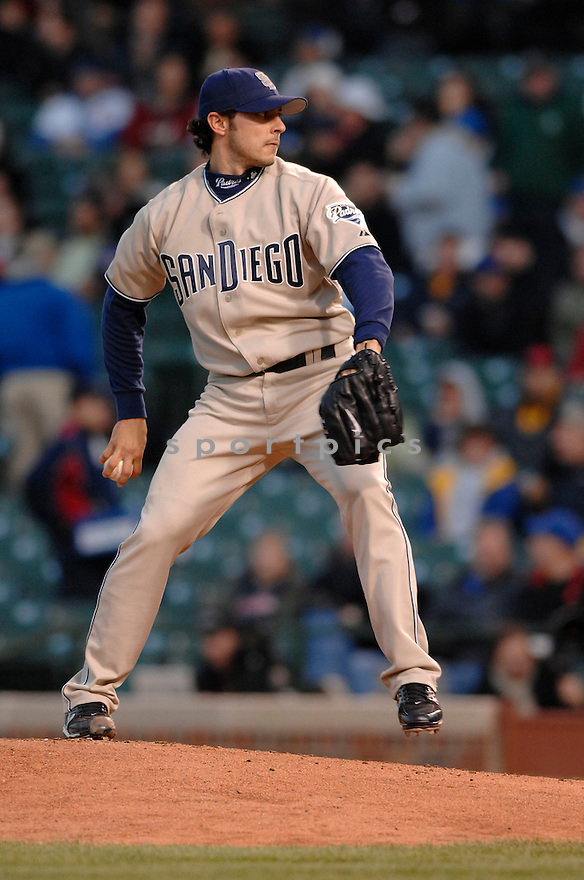 CLAY HENSLEY, of the San Diego PadresChicago Cubs, in action during the Padres game against the Chicago Cubs in Chicago, Illinois on April 16, 2007...Cubs win 12-4...DAVID DUROCHIK / SPORTPICS..