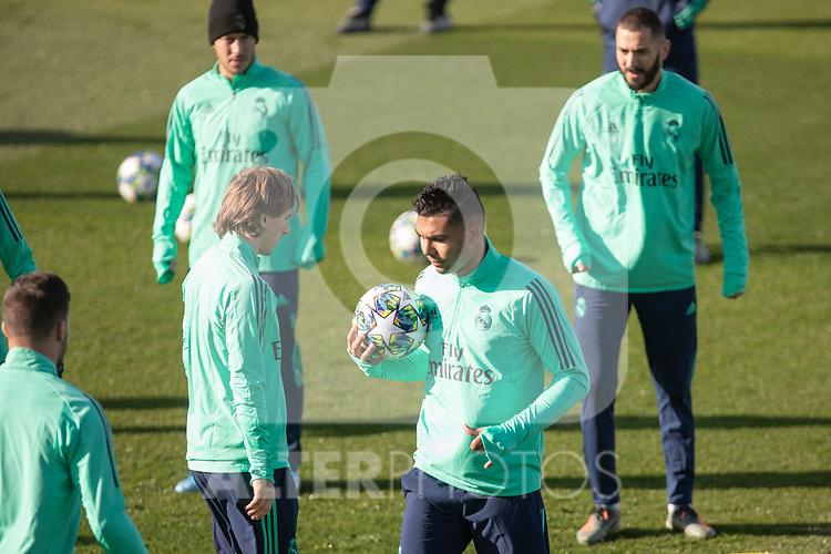 Real Madrid's Benzema, Modric, Hazard and Casemiro during training session. <br /> November 25 ,2019.<br /> (ALTERPHOTOS/David Jar)