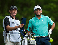 24.05.2015. Wentworth, England. BMW PGA Golf Championship. Final Round.  Francesco Molinari [ITA] starts the day tied first with Byeong Hun An [KOR]. On the 3rd tee during the final round of the 2015 BMW PGA Championship from The West Course Wentworth Golf Club