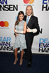 Jessica Rose amd Corey Brunish attends the Broadway Opening Night Performance of 'Dear Evan Hansen'  at The Music Box Theatre on December 4, 2016 in New York City.