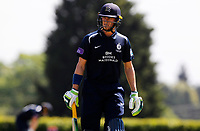 Nick Gubbins ofMiddlesex departs the field having scored fifty runs during Middlesex vs Essex Eagles, Royal London One-Day Cup Cricket at Radlett Cricket Club on 17th May 2018