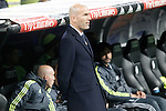 Real Madrid's coach Zinedine Zidane during La Liga match. April 20,2016. (ALTERPHOTOS/Acero)