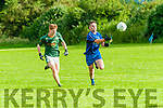 Finuge V Renard: Renard's Paudie Casey is first to the ball ahead of Finuge's Rory McAuliffe in Division 4 clash in Finuge on Saturday evening last.