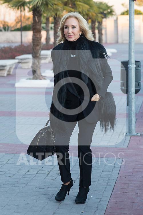 Spanish Carmen Lomana  arrived to the wake of Bimba Bose at the La Paz tannery in Madrid. Spain. January 24th 2017. (ALTERPHOTOS/Rodrigo Jimenez)