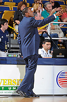 12 January 2012:  FIU Basketball Head Coach Isiah Thomas signals to players in the second half as the Middle Tennessee State University Blue Raiders defeated the FIU Golden Panthers, 70-59, at the U.S. Century Bank Arena in Miami, Florida.