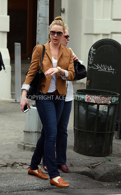 WWW.ACEPIXS.COM<br /> <br /> April 14 2014, New York City<br /> <br /> Actress Katherine Heigl goes out for lunch with her mother Nancy in Tribeca on April 14 2014 in New York City<br /> <br /> By Line: Philip Vaughan/ACE Pictures<br /> <br /> ACE Pictures, Inc.<br /> tel: 646 769 0430<br /> Email: info@acepixs.com<br /> www.acepixs.com
