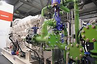 - Milan, Trade Fair of Robotics, High Tech and Green Energy; diesel engine powered with crude palm oil fuel<br /> <br /> - Milano, Fiera della Robotica, High Tech ed Energie Verdi; motore diesel alimentato ad olio crudo di palma