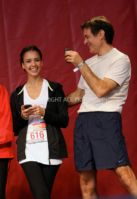 WWW.ACEPIXS.COM . . . . .  ....May 1 2010, New York City....Jessica Alba  and Dr Mehmet Oz at the 13th Annual EIF Revlon Run/Walk For Women in Manhattan on May 1, 2010 in New York City.....Please byline: NANCY RIVERA- ACEPIXS.COM.... *** ***..Ace Pictures, Inc:  ..Tel: 646 769 0430..e-mail: info@acepixs.com..web: http://www.acepixs.com