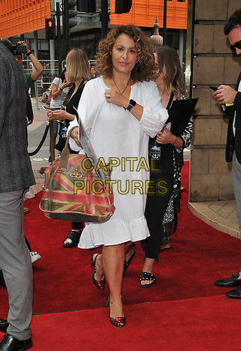 """Nadia Sawalha at the """"The Illusionists"""" show press night, Shaftesbury Theatre, Shaftesbury Avenue, London, England, UK, on Wednesday 10th July 2019.<br /> CAP/CAN<br /> ©CAN/Capital Pictures"""