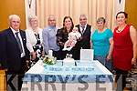 The Christening of John Darragh O'Brien took place on Saturday piocture here in the Ring of Kerry Hotel with Grandparents, Godparents and proud parents Mary & Denis, pictured here l-r; John & Annie O'Brien, Godfather Brendan O'Brien, Mary, John Darragh & Denis O'Brien, Patricia Griffin & Godmother Teresa O'Sullivan.