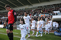 Pictured: Dorus de Vries of Swansea City walks out with a young mascot<br /> Re: Coca Cola Championship, Swansea City FC v Cardiff City at the Liberty Stadium. Swansea, south Wales, Sunday 30 November 2008.<br /> Picture by D Legakis Photography / Athena Picture Agency, Swansea 07815441513