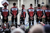 Team Trek Segafredo with  Koen De Kort (NED/Trek Segafredo)<br /> <br /> Team Presentation Saturday<br /> <br /> 117th Paris-Roubaix (1.UWT)<br /> 1 Day Race: Compiègne-Roubaix (257km)<br /> <br /> ©kramon