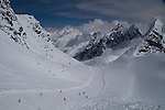 View from Valluga 2 Tram at St Anton, Austria, Europe 2014,