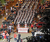 Ohio State Buckeyes Marching Band makes their way into Sun Life Stadium for  the Discover Orange Bowl in Miami Gardens, Florida on January 3, 2014.(Dispatch photo by Kyle Robertson)