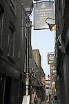 Grapeshots wine bar and pub, Artillery Passage, off Bishopsgate, London, E1, England
