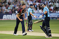 Reece Topley of Essex claims the wicket of Chris Nash - Essex Eagles vs Sussex Sharks - Friends Life T20 Cricket at the Ford County Ground, Chelmsford, Essex - 28/06/12 - MANDATORY CREDIT: Gavin Ellis/TGSPHOTO - Self billing applies where appropriate - 0845 094 6026 - contact@tgsphoto.co.uk - NO UNPAID USE.