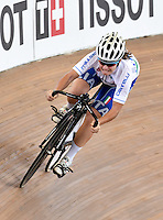 CALI – COLOMBIA – 15-02-2017: Ciclista de Italia, durante entreno en el Velodromo Alcides Nieto Patiño, sede de la Copa Mundo UCI de Pista de Cali 2017. / Cyclist from Italy, during a training sesión at the Alcides Nieto Patiño Velodrome, home of the Cali Track World Cup 2017 UCI. Photo: VizzorImage / Luis Ramirez / Staff.