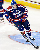 Zack Kamrass (UML - 27) - The Boston College Eagles defeated the visiting University of Massachusetts Lowell River Hawks 6-3 on Sunday, October 28, 2012, at Kelley Rink in Conte Forum in Chestnut Hill, Massachusetts.
