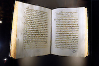 """Lettera di Papa Clemente XII a Lobsang Yeshi, vice del Grande Lama Kelzang Gyatso, esposta alla mostra """"Lux in Arcana - L'Archivio Segreto Vaticano si rivela"""", ai Musei Capitolini di Roma..A letter from Pope Clement XII to Lobsang Yeshi, deputy of the Great Lama Kelzang Gyatso, displayed at the exhibition """"Lux in Arcana - The Vatican Secret Archive reveals itself"""" at Rome's Capitoline Museums. .UPDATE IMAGES PRESS/Riccardo De Luca"""