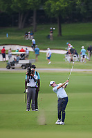 Matt Fitzpatrick (ENG) hits his approach shot on 2 during round 4 of the 2019 Charles Schwab Challenge, Colonial Country Club, Ft. Worth, Texas,  USA. 5/26/2019.<br /> Picture: Golffile | Ken Murray<br /> <br /> All photo usage must carry mandatory copyright credit (© Golffile | Ken Murray)