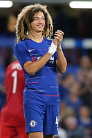 Ethan Ampadu applauds the Chelsea fans after the match during Chelsea vs Lyon, International Champions Cup Football at Stamford Bridge on 7th August 2018