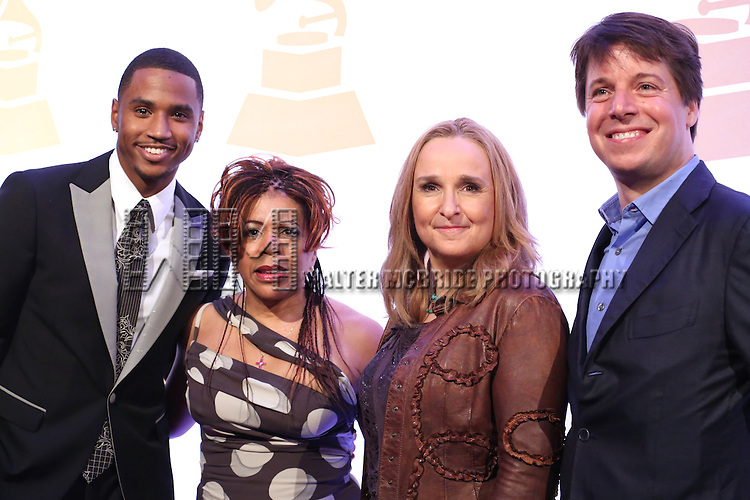 Trey Songz, Valerie Ashford, Melissa Etheridge, Joshua Bell attend The Recording Academy Honors 2013 at 583 Park Avenue on June 25, 2013 in New York City.