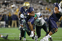 Annapolis, MD - October 26, 2019: Navy Midshipmen fullback Jamale Carothers (34) scores a touchdown during the game between Tulane and Navy at  Navy-Marine Corps Memorial Stadium in Annapolis, MD.   (Photo by Elliott Brown/Media Images International)