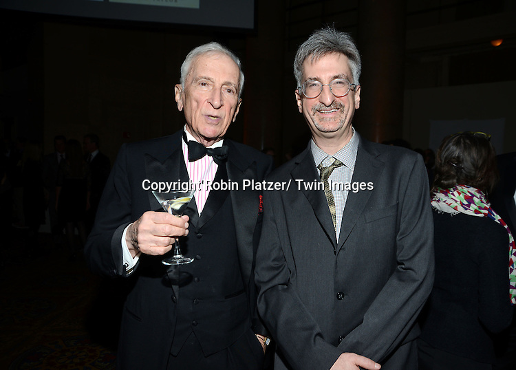 Gay Talese and Geoff Kloske attend the 2013 National Book Awards Dinner and Ceremony on November 20, 2013 at Cipriani Wall Street in New York City.