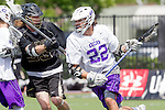 Orange, CA 05/16/15 - Drew Dziadyk (Grand Canyon #22) and Michael Simboski (Colorado #33) in action during the 2015 MCLA Division I Championship game between Colorado and Grand Canyon, at Chapman University in Orange, California.
