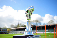 A general view of the European Rugby Challenge Cup trophy. European Rugby Challenge Cup Quarter Final, between Bath Rugby and CA Brive on April 1, 2017 at the Recreation Ground in Bath, England. Photo by: Patrick Khachfe / Onside Images