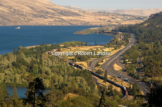View of the Columbia River near The Dalles, OR
