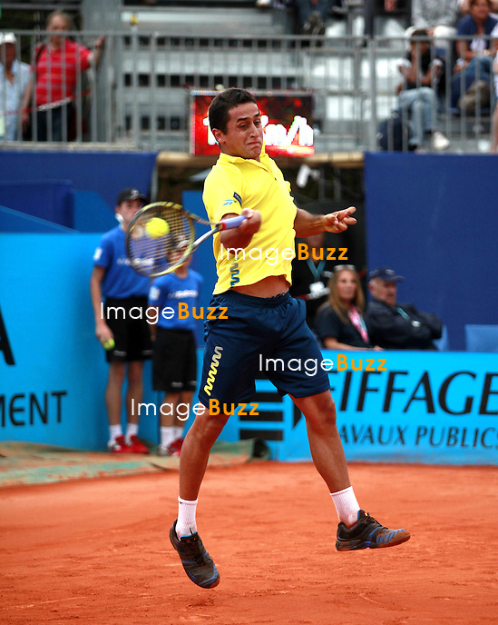 25/05/2012 - NICE  - Nicolas ALMAGRO vainqueur 6/1.6/3 en demi finale de l'Open de Nice face à Gilles SIMON. .