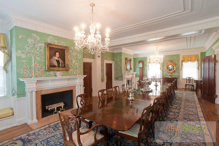 Dining Room, Drumthwacket, offical residence of the Governor of New Jersey