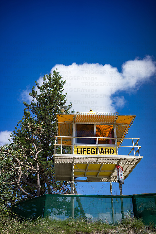 A beach patrol tower on a beach in miami Gold coast Australia