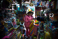 'Twin Teachers' Rian and Rossy shop for toys in Jakarta for their playgroup students. Since the early 1990s, twin sisters Sri Rosyati (known as Rossy) and Sri Irianingsih (known as Rian) have used their family inheritance to set up and run 64 schools in different parts of Indonesia, providing primary education combined with practical skills to some of the country's most deprived children.