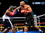 HOLLYWOOD, FL - SEPTEMBER 05: Grover Young (L), fight Maurice Harris during the World Heavyweight Champions Fight Night at Hard Rock Live! in the Seminole Hard Rock Hotel & Casino on September 5, 2015 in Hollywood, Florida. Briggs won the bout by second round KO. ( Photo by Johnny Louis / jlnphotography.com )