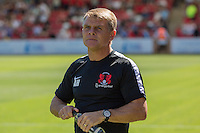 Leyton Orient manager Andy Hessenthaler ahead of the Sky Bet League 2 match between Cheltenham Town and Leyton Orient at the LCI Rail Stadium, Cheltenham, England on 6 August 2016. Photo by Mark  Hawkins / PRiME Media Images.