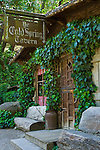 Ivy covered entrance, Cold Springs Tavern, on the historic stage coach route between Santa Ynez and Santa Barbara, California