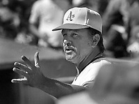 Oakland Athletics manager Dick Williams...(1972 phfoto/Ron Riesterer)