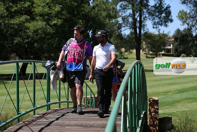 John Parry (ENG) and caddie Tom cross the bridge to the 17th during Round Two of the Tshwane Open 2015 at the Pretoria Country Club, Waterkloof, Pretoria, South Africa. Picture:  David Lloyd / www.golffile.ie. 13/03/2015