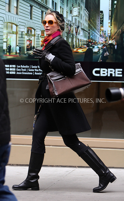 WWW.ACEPIXS.COM . . . . .  ....January 26 2012, New York City....Actress Uma Thurman on the set of the TV show 'Smash' on January 26 2012 in New York City....Please byline: CURTIS MEANS - ACE PICTURES.... *** ***..Ace Pictures, Inc:  ..Philip Vaughan (212) 243-8787 or (646) 679 0430..e-mail: info@acepixs.com..web: http://www.acepixs.com