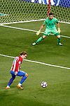 Atletico de Madrid's Antoine Griezmann (l) and Real Sociedad's Geronimo Rulli during La Liga match. April 4,2017. (ALTERPHOTOS/Acero)