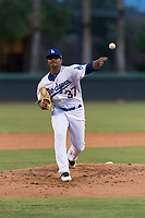 AZL Dodgers starting pitcher Robinson Ortiz (37) delivers a pitch during an Arizona League game against the AZL Angels at Camelback Ranch on July 8, 2018 in Glendale, Arizona. The AZL Dodgers defeated the AZL Angels by a score of 5-3. (Zachary Lucy/Four Seam Images)