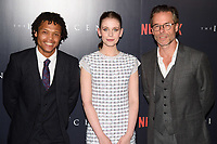 """Percelle Ascott, Sorcha Groundsell and Guy Pearce<br /> arriving for the premiere of """"The Innocents"""" at the Curzon Mayfair, London<br /> <br /> ©Ash Knotek  D3421  20/08/2018"""