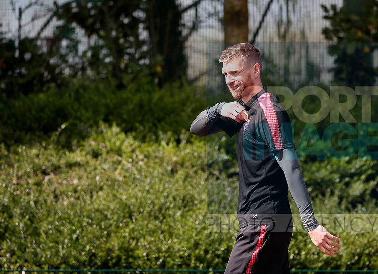 Arsenal's Per Mertesacker during the training session at the Arsenal Training Centre, London Colney. Picture date: 25th April 2018. Picture credit should read: David Klein/Sportimage