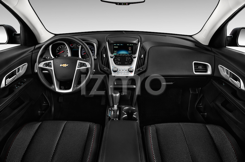 Stock photo of straight dashboard view of 2016 Chevrolet Equinox LT 5 Door Suv Dashboard