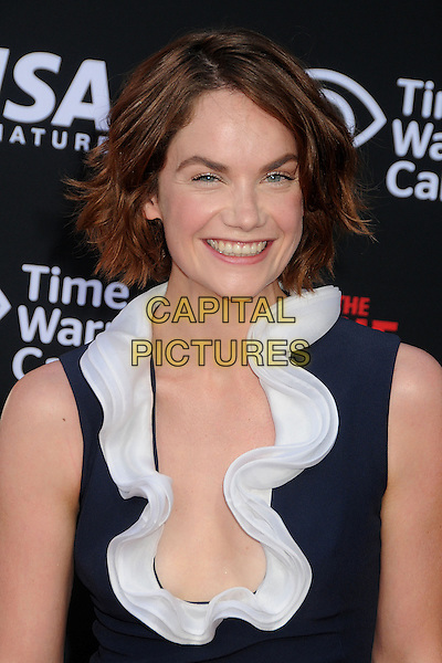 Ruth Wilson<br /> &quot;The Lone Ranger&quot; World Premiere held at Disney's California Adventure Park,  Anaheim, California, USA, 22nd June 2013.<br /> portrait headshot white ruffle navy blue sleeveless low cut plunging neckline collar smiling <br /> CAP/ADM/BP<br /> &copy;Byron Purvis/AdMedia/Capital Picture