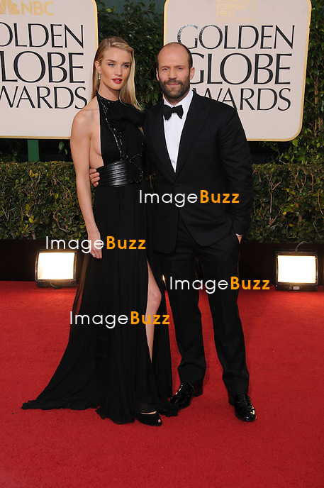 Rosie Huntington-Whiteley and Jason Statham at the 70th Annual Golden Globe Awards..(Beverly Hills, CA)