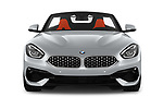 Car photography straight front view of a 2019 BMW Z4 Sport 2 Door Convertible Front View